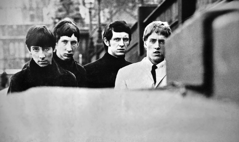 The Who pose for a group portrait, London, 1965. L-R Keith Moon, Pete Townshend, John Entwistle and Roger Daltrey. (Photo by