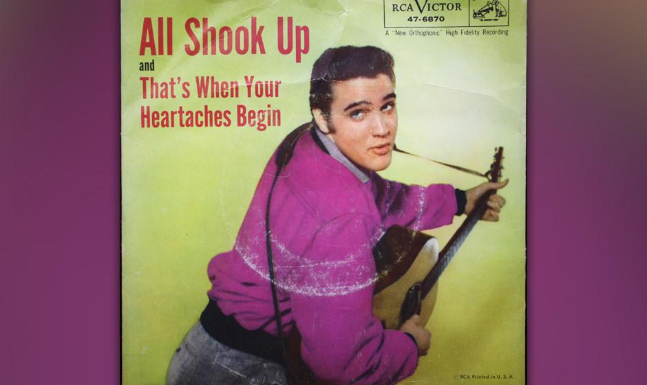"""5. All Shook Up, 1957.  Wie """"Cruel"""" ein Song aus der Feder von Otis Blackwell und ein weiterer Number-one-Hit, den Elvis"""
