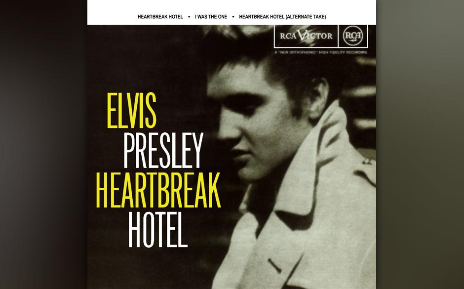3. Heartbreak Hotel, 1956.  Am 10. Januar 1956 legt Elvis in den RCA Studios in Nashville seine Meisterprüfung ab, mit unfas