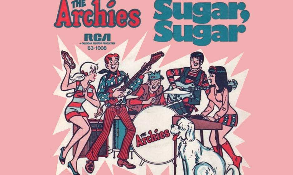 """The Archies – Sugar, Sugar (1969) Noch vor den Gorillaz gab es The Archies. Die Comicfiguren sangen sich mit """"Sugar, Suga"""