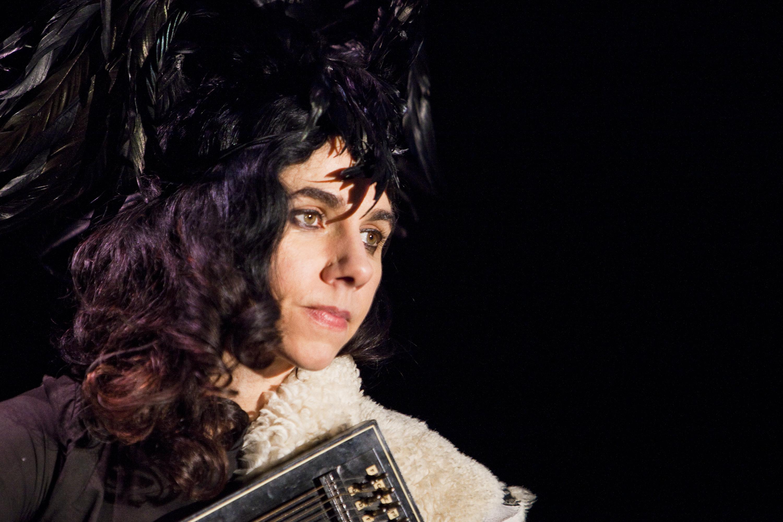 LONDON, ENGLAND - FEBRUARY 27:  PJ Harvey performs at the Troxy on February 27, 2011 in London, England.  (Photo by Marc Brou