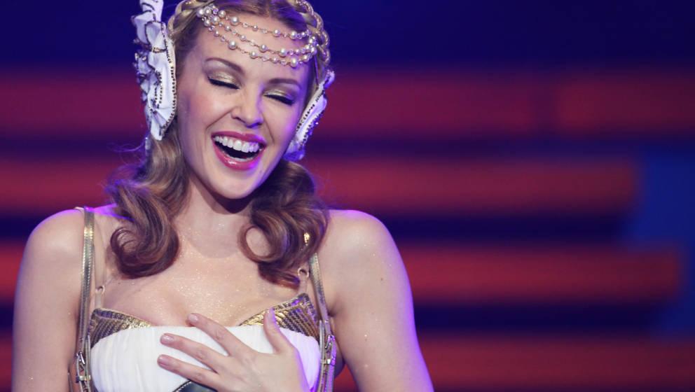 SYDNEY, AUSTRALIA - JUNE 07:  Kylie Minogue performs live on stage during her Aphrodite Les Folies tour at Sydney Entertainme