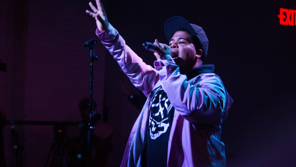 BROOKLYN, NY - OCTOBER 25:  ILoveMakonnen performs onstage during Day 3 of the Fader Fort presented by Converse at Converse R