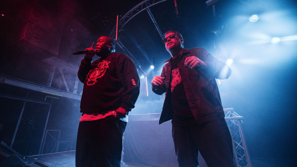 GLASGOW, UNITED KINGDOM - DECEMBER 10:  and Killer MikeEl-P of Run the Jewels performs on stage at Garage on December 10, 201
