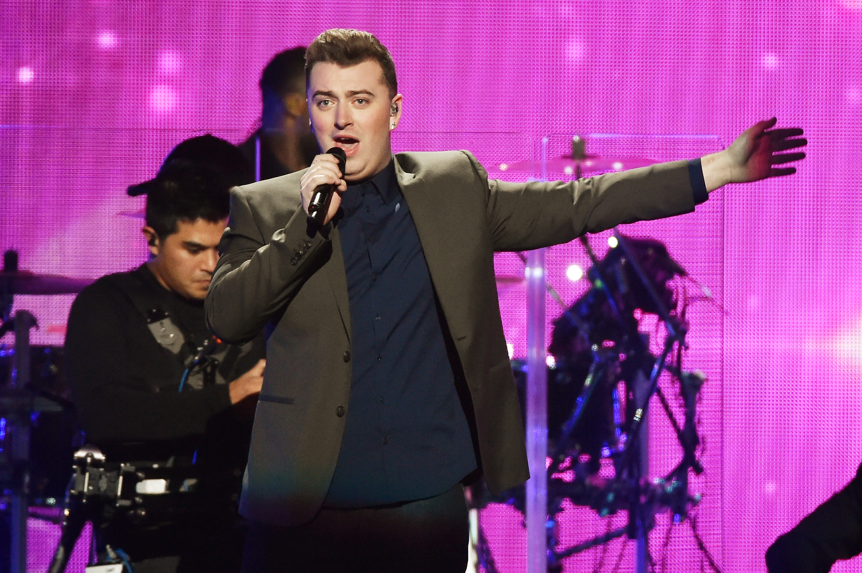NEW YORK, NY - DECEMBER 12:  Sam Smith performs onstage during iHeartRadio Jingle Ball 2014, hosted by Z100 New York and pres