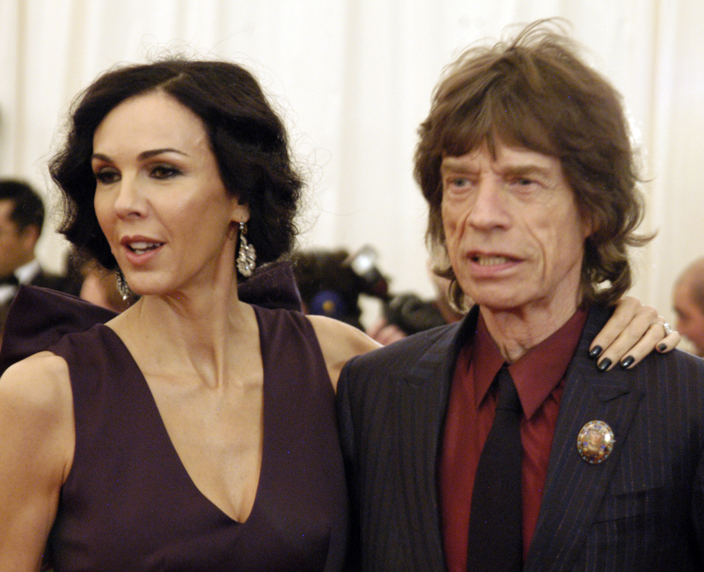 NEW YORK CITY - MAY 7:  L'Wren Scott and Mick Jagger attend 'Schiaparelli And Prada: Impossible Conversations' Costume Instit