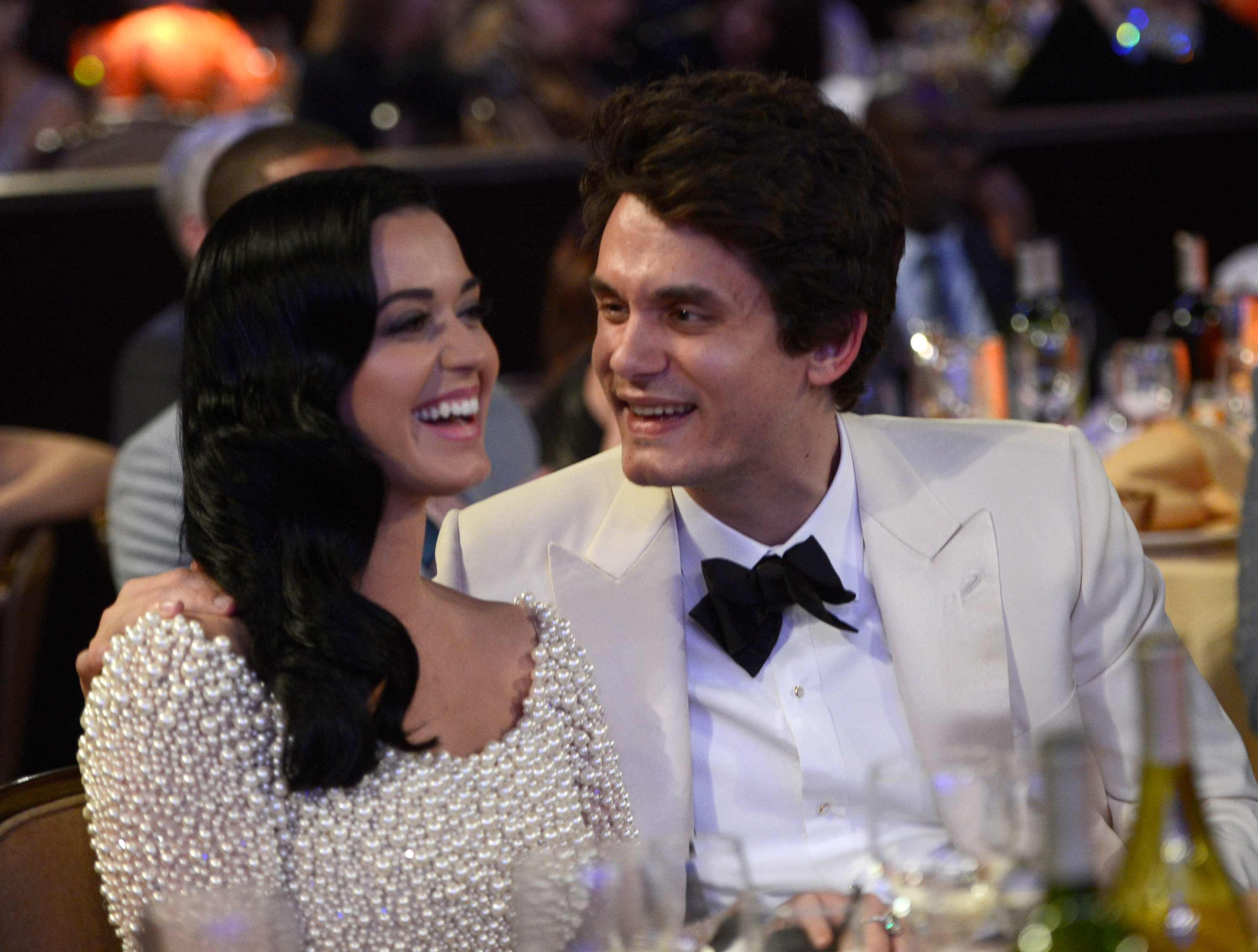LOS ANGELES, CA - FEBRUARY 09:  Katy Perry and John Mayer attend the 55th Annual GRAMMY Awards Pre-GRAMMY Gala and Salute to