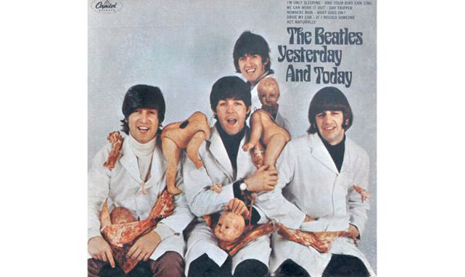 The Beatles, 'Yesterday and Today' (1966).  750.000 Alben mussten in den USA zurückgezogen werden. Fleischstücke und abgetr