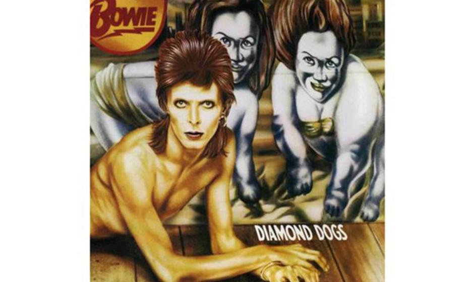 David Bowie, 'Diamond Dogs' (1974).  Von vorne easy, Bowie halt als Hund –aber auf der Rückseite des aufklappbaren Cover