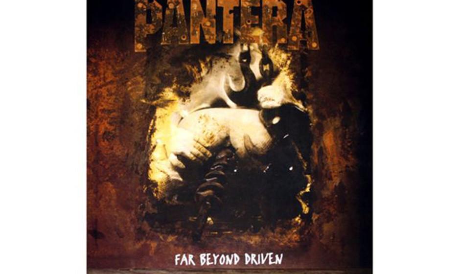 Pantera, 'Far Beyond Driven' (1994).  Schwer zu erkennen, oder? Ein Bohrer bahnt sich seinen Weg durch einen Hintern. Wurde a