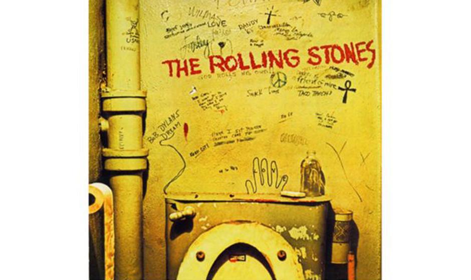 The Rolling Stones, 'Beggars Banquet' (1968).  Toiletten-Fotos waren 1968 ein No-Go. In den USA entschied sich die Plattenfir