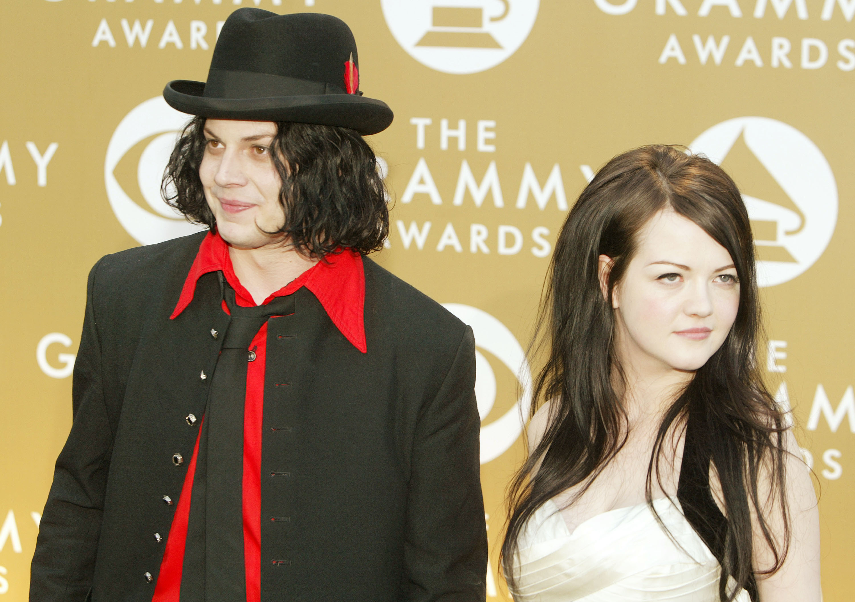 LOS ANGELES - FEBRUARY 8:  Jack and Meg White of the White Stripes arrive at the 46th Annual Grammy Awards held at the Staple