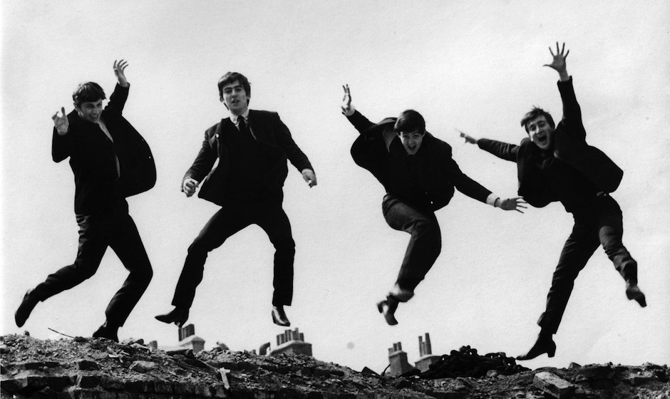 UNITED KINGDOM - APRIL 01:  Photo of BEATLES; L-R: Ringo Starr, George Harrison, Paul McCartney, John Lennon - posed, group s