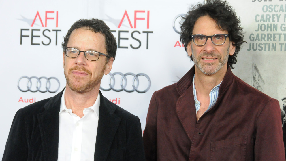 HOLLYWOOD, CA - NOVEMBER 14:  Writer/director Ethan Coen (L) and his brother writer/director Joel Coen attend the screening o