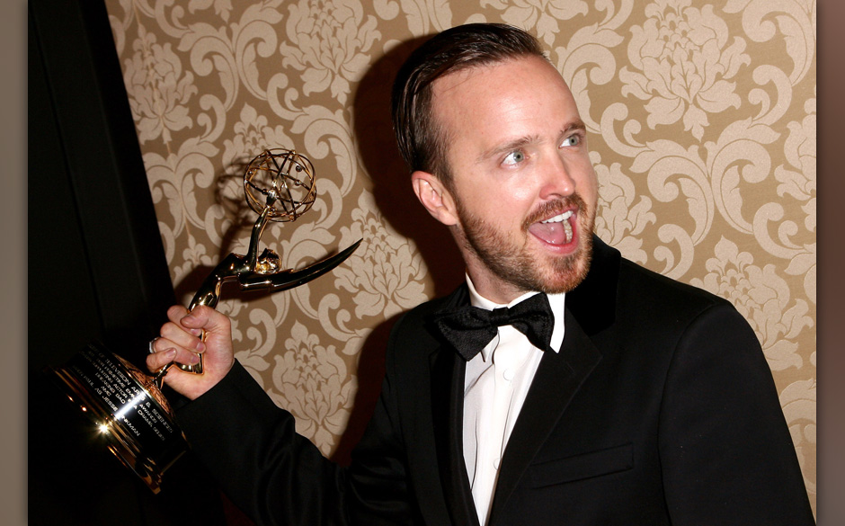 WEST HOLLYWOOD, CA - AUGUST 25:  Actor Aaron Paul attends the AMC, IFC And Sundance Channel's Primetime Emmy Awards Party 201
