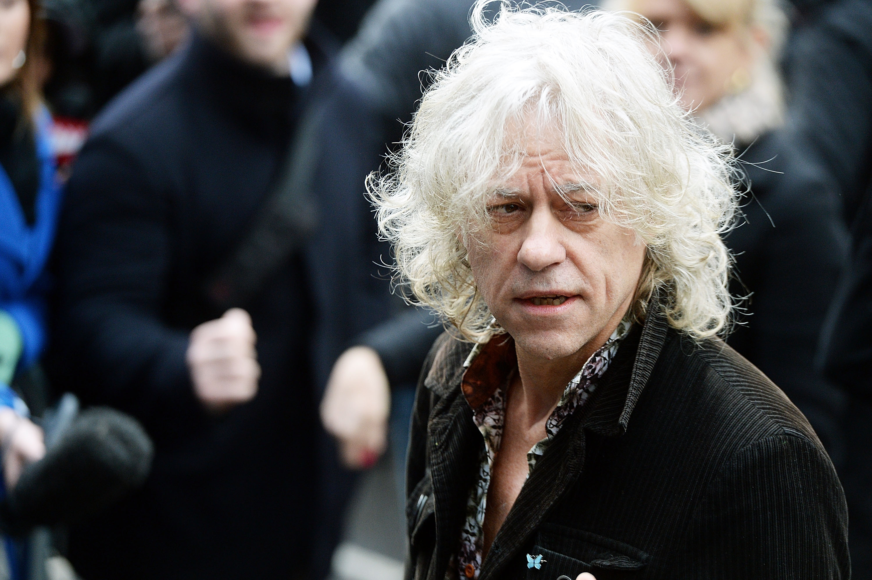 LONDON, ENGLAND - NOVEMBER 15:  Bob Geldof attends to record the Band Aid 30 single on November 15, 2014 in London, England.