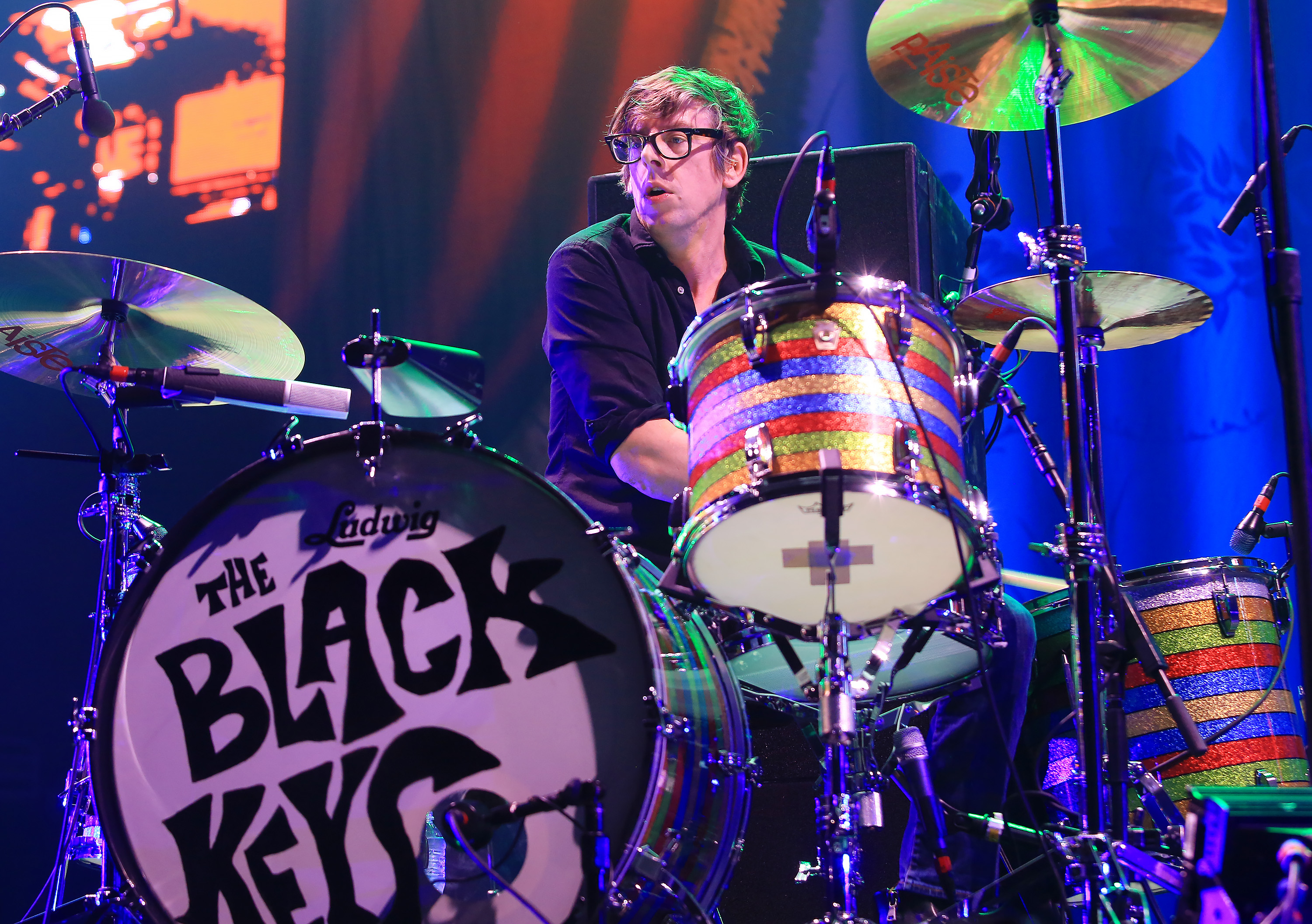 KANSAS CITY, MO - DECEMBER 21:  Musician Patrick Carney of The Black Keys performs at Sprint Center on December 21, 2014 in K
