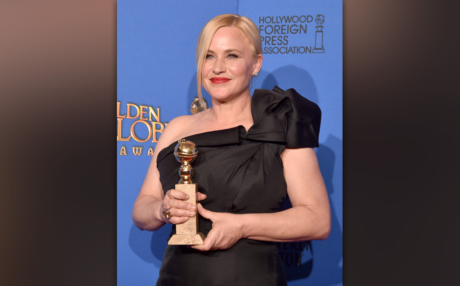 BEVERLY HILLS, CA - JANUARY 11:  Actress Patricia Arquette, winner of Best Supporting Actress in a Motion Picture - Drama, Mu
