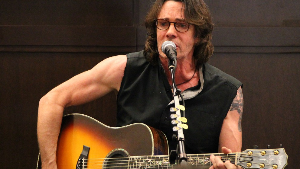 LOS ANGELES, CA - MAY 09: Recording artist Rick Springfield attends a signing for his new book 'Magnificent Vibration' at Bar