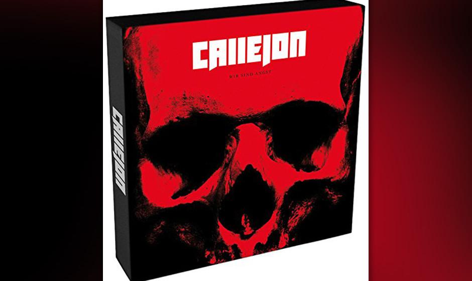 ...die Düsseldorfer Metaller Callejon drängen dafür mit 'Wir sind Angst' vor auf Platz fünf...