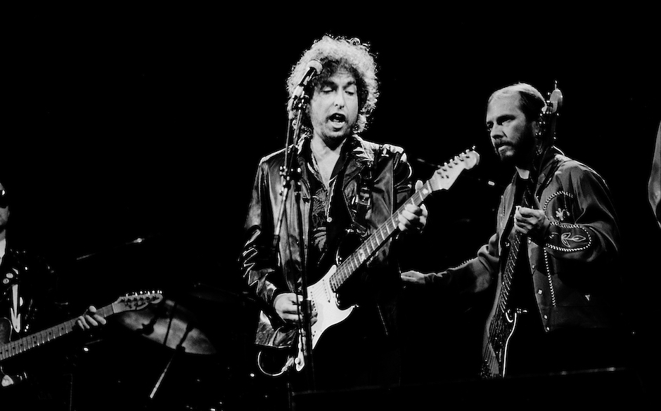 HOFFMAN ESTATES, IL  - JUNE 10: Bob Dylan at the Poplar Creek Music Theater on June 10, 1981 in Hoffman Estates, Illinois.  (