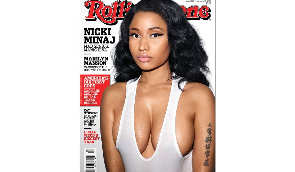 Nicki Minaj zeigt sich auf dem Cover des US-ROLLING STONE gewohnt freizügig...