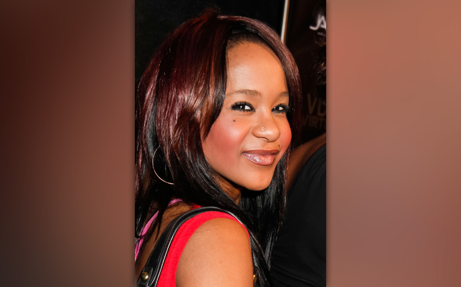 HOLLYWOOD, CA - FEBRUARY 09:  Bobbi Kristina Brown arrives to the The love of R&B Grammy Party at Tru Hollywood on Februa