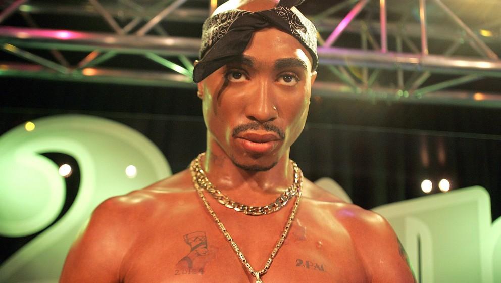 Tupac Shakur waxwork during Tupac Shakur - Waxwork Unveiling at Madame Tussaud's London at Madame Tussauds in London, Great B