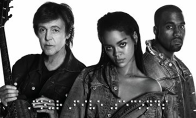 Rihanna, Paul McCartney und Kanye West präsentieren ihre gemeinsame Single 'FourFiveSeconds'
