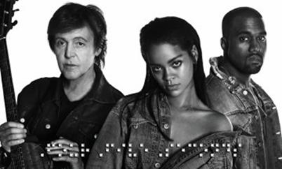 Rihanna, Paul McCartney und Kanye West präsentieren ihre gemeinsame Single 'FourFiveSeconds'