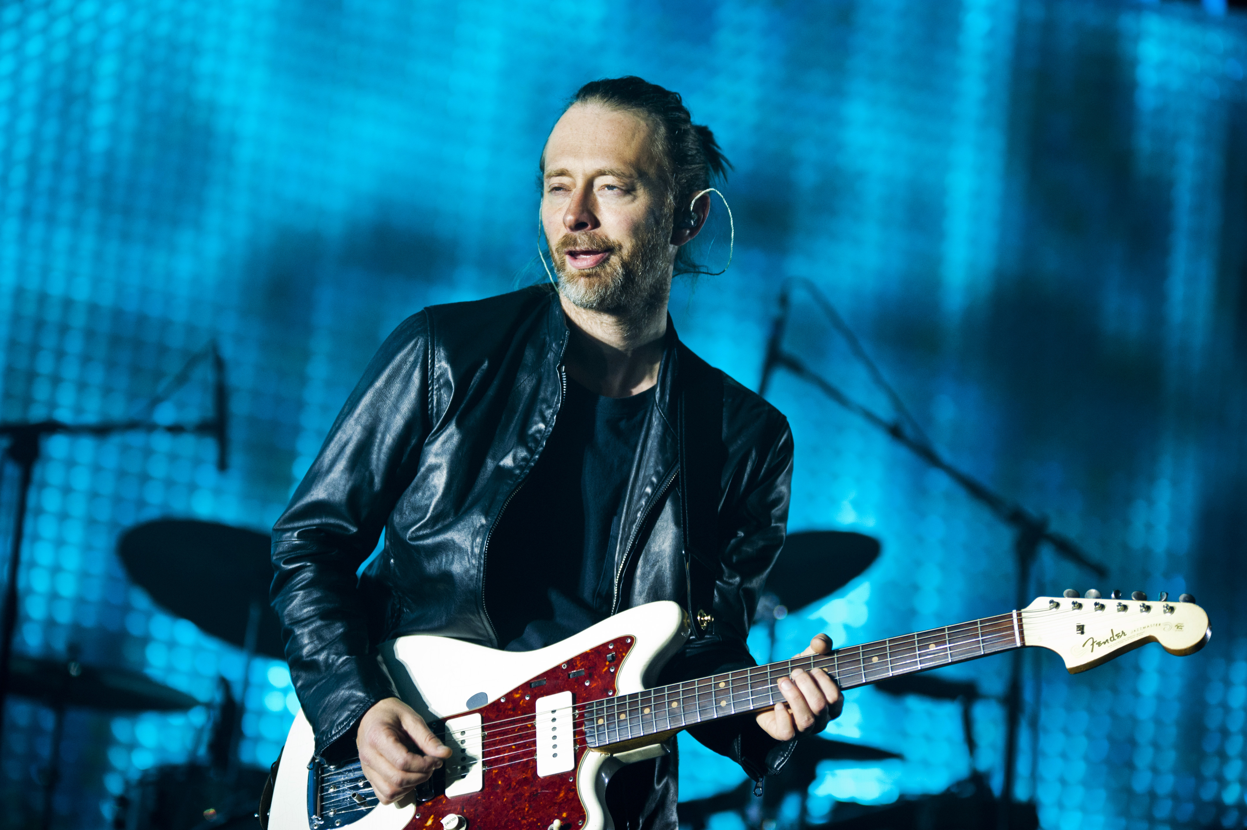 AMSTERDAM, NETHERLANDS - OCTOBER 14: Thom Yorke of Radiohead performs on stage at Ziggo Dome on October 14, 2012 in Amsterdam