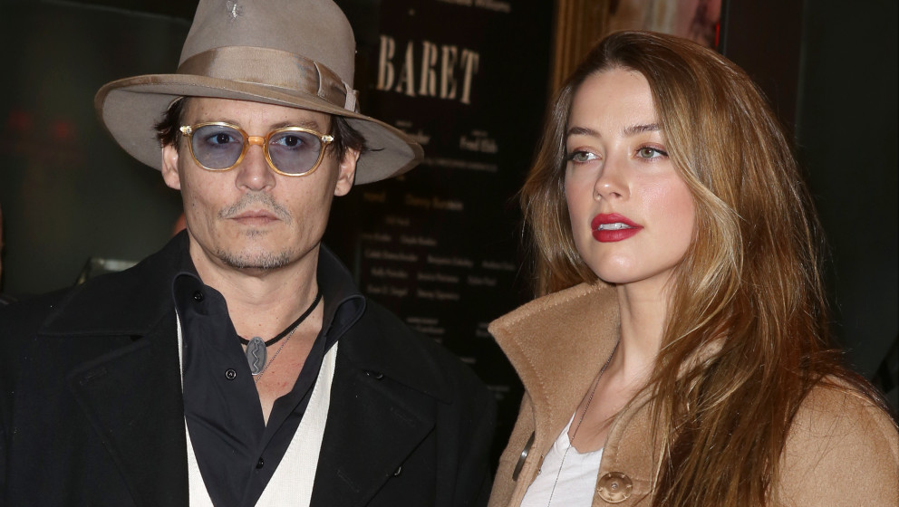Johnny Depp and Amber Heard attending the Broadway Opening Night Performance of 'Cabaret' at Studio 54 on April 24, 2014 in N