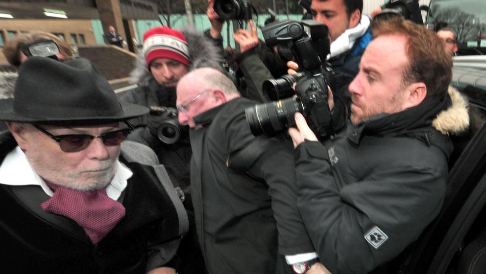Paul Gladd, ehemals Gary Glitter, zum Prozessauftakt am 12. Januar 2015 in London.