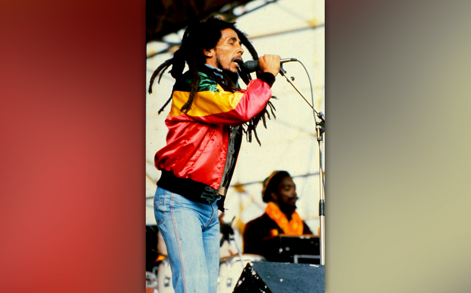 The Jamaican singer Bob Marley during a show, 1981, Madrid, Spain. (Photo by Gianni Ferrari/Cover/Getty Images)