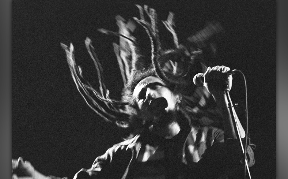 Bob Marley and the Wailers perform at the Uptown Theater, Chicago, Illinois, November 13, 1979. (Photo by Kirk West/Getty Ima