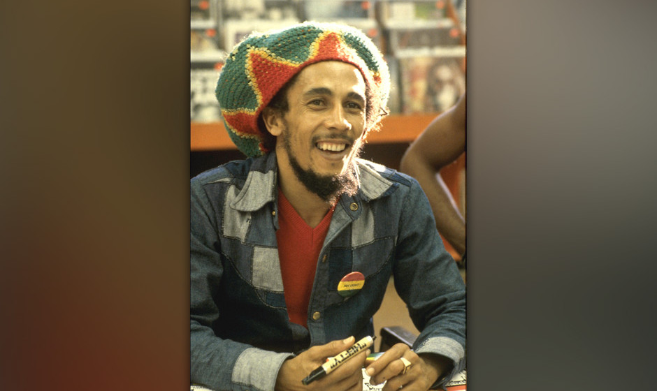 BOB MARLEY 1979 Tower Records Hollywoodl   (Photo by Chris Walter/WireImage)