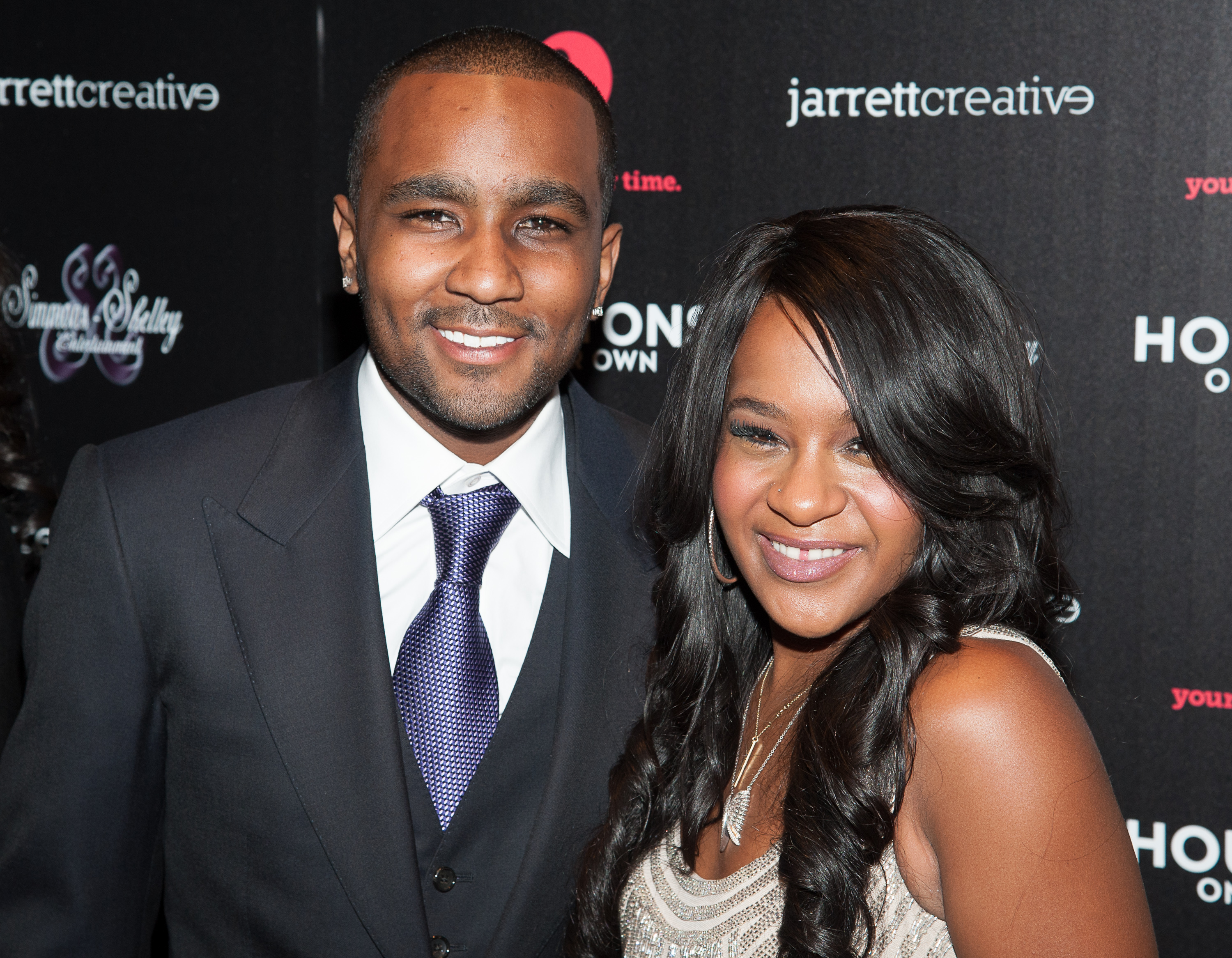 NEW YORK, NY - OCTOBER 22:  Bobbi Kristina Brown and Nick Gordon attends 'The Houstons: On Our Own' Series Premiere Party at