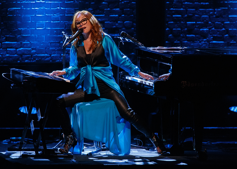 VANCOUVER, BC - JULY 16:  Singer Tori Amos performs on stage during the 'Unrepentant Geraldines Tour' at Orpheum Theatre on J