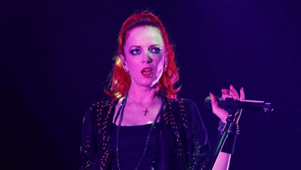 SYDNEY, AUSTRALIA - MARCH 06:  Shirley Manson from Garbage performs live for fans at The Star Event Centre at The Star on Mar