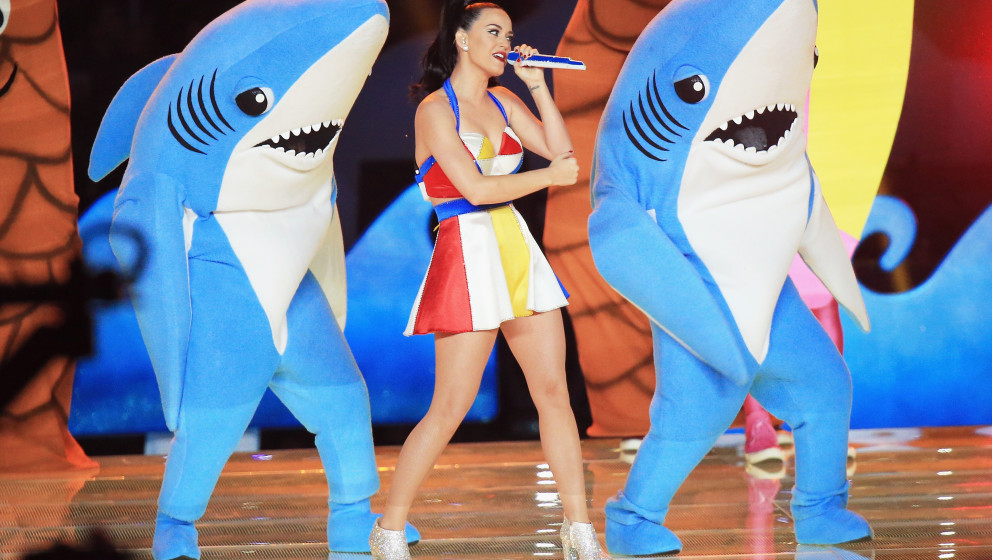 Recording artist Katy Perry performs onstage during the Pepsi Super Bowl XLIX Halftime Show at University of Phoenix Stadium