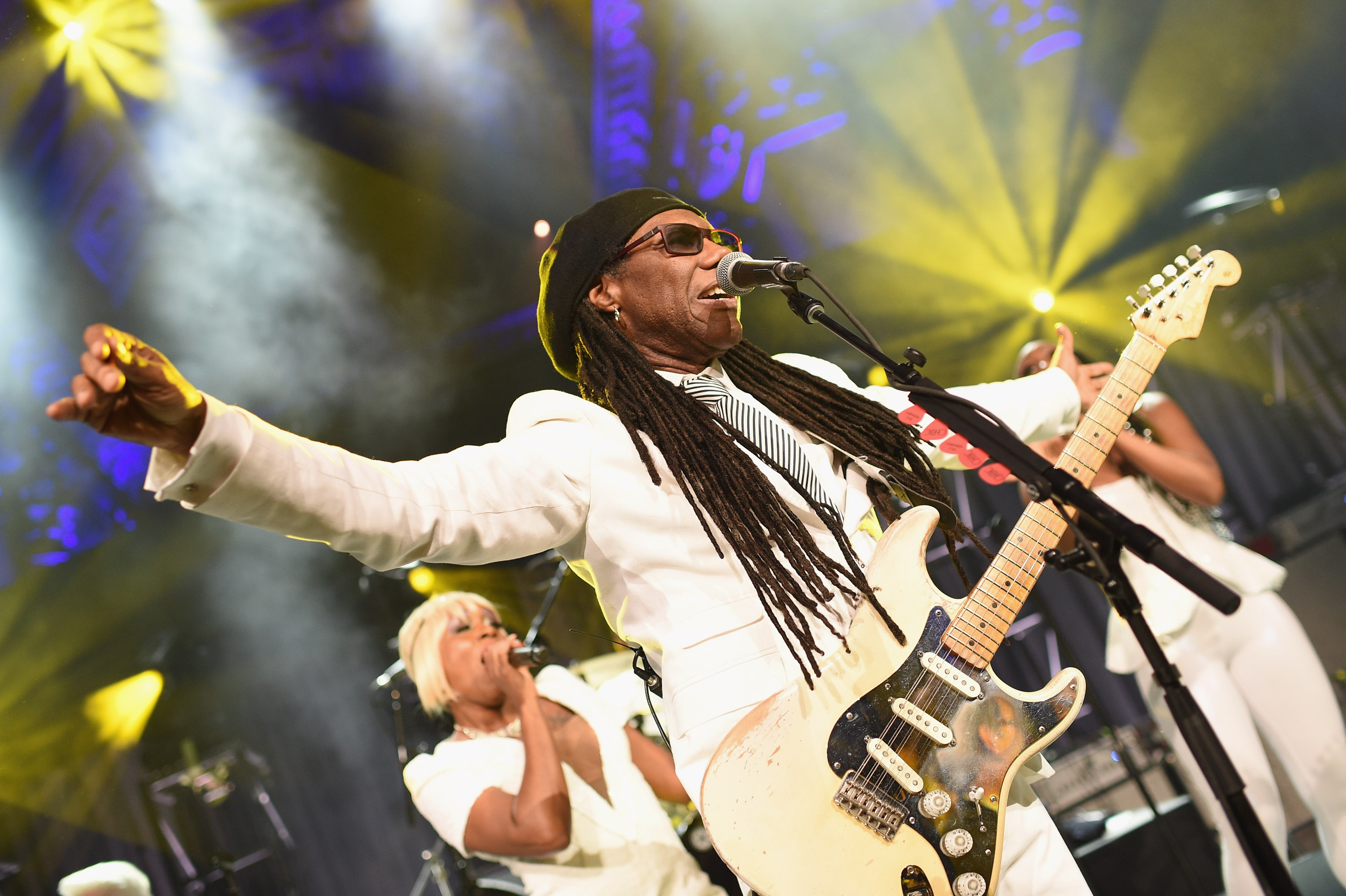 NEW YORK, NY - OCTOBER 20:  Nile Rodgers performs onstage at Angel Ball 2014 hosted by Gabrielle's Angel Foundation at Cipria