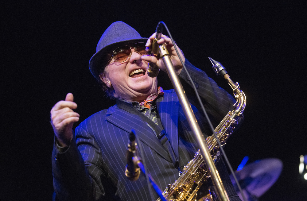 GLASGOW, UNITED KINGDOM - JANUARY 26: Van Morrison performs on stage at Celtic Connections Festival at Glasgow Royal Concert