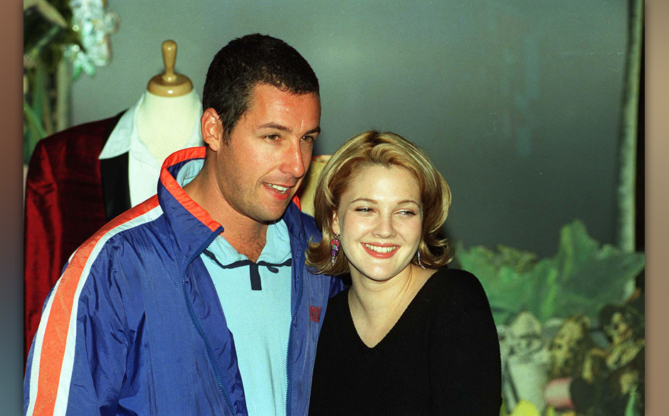 ADAM SANDLERAmerican ActorAnd:  DREW BARRYMOREAmerican Actress(Seen at Planet Hollywood in London, where they were promot