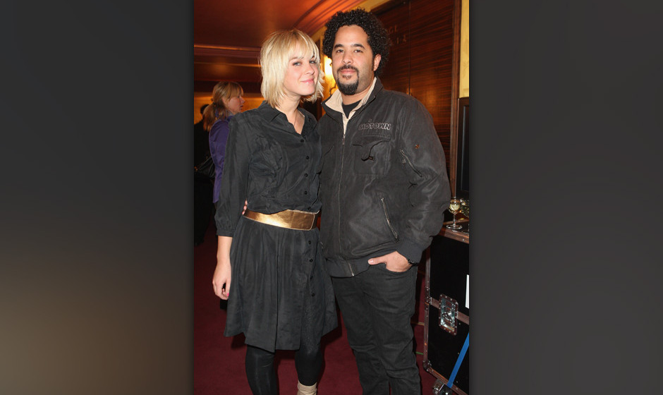 BERLIN - APRIL 16:  Singer Adel Tawil (R) and actress Jasmin Weber attend the performance of The Beatles revival band Rain -