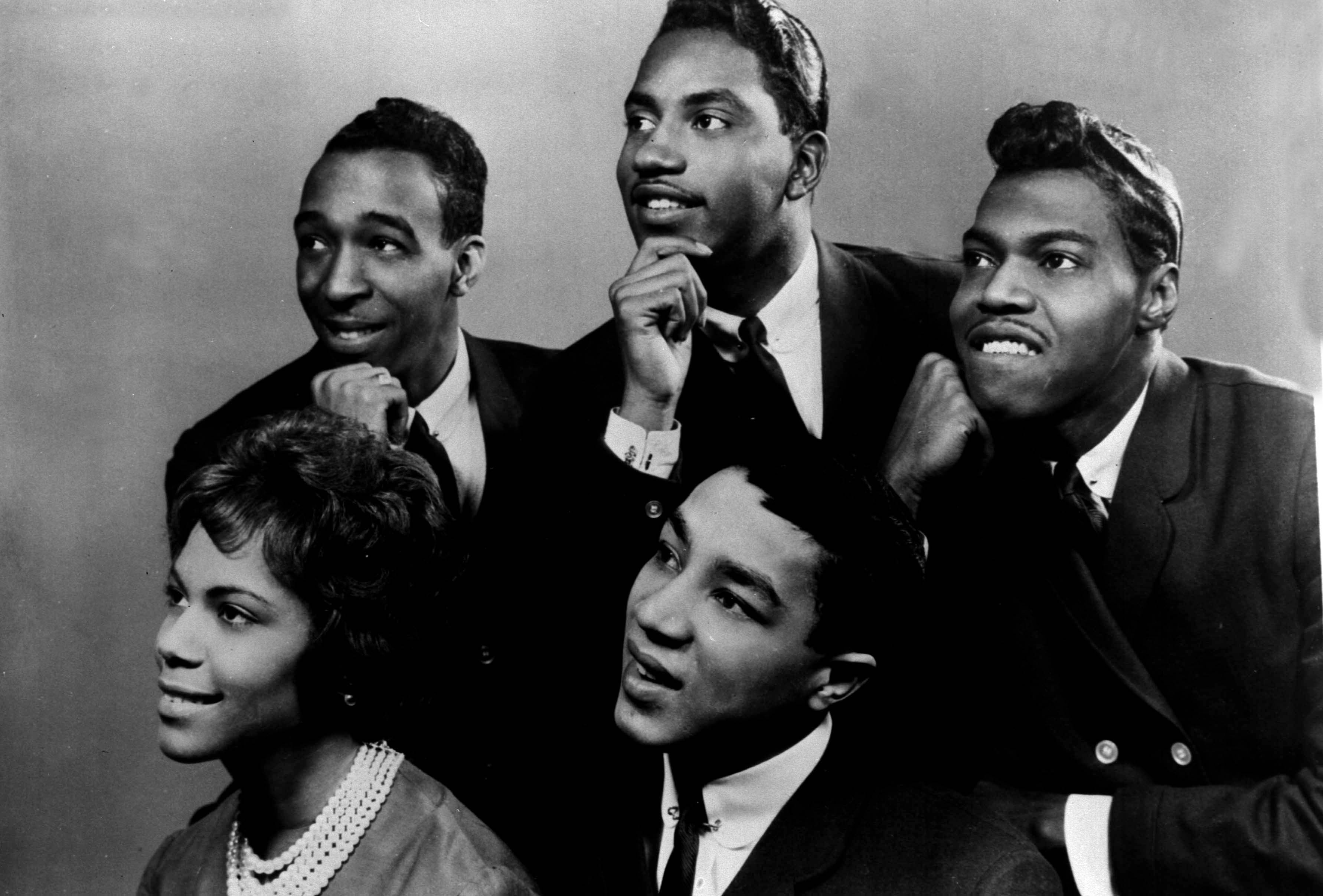 American singing group 'SMOKEY ROBINSON AND THE MIRACLES' In the picture: Claudette Robinson, Bobby Rogers, Smokey Robinson,