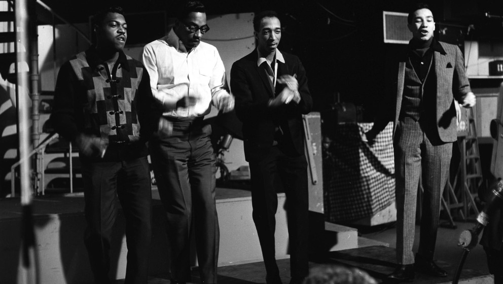 American singing group 'SMOKEY ROBINSON AND THE MIRACLES' In the picture: Bobby Rogers, Smokey Robinson, Bobby Rodgers, Peter