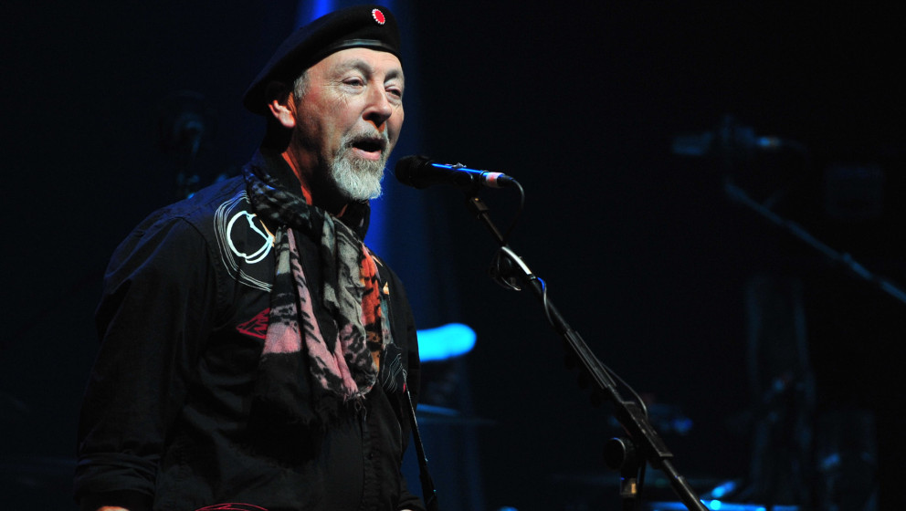 BASINGSTOKE, UNITED KINGDOM - MARCH 8: English folk musician Richard Thompson performing live on stage at The Anvil in Basing