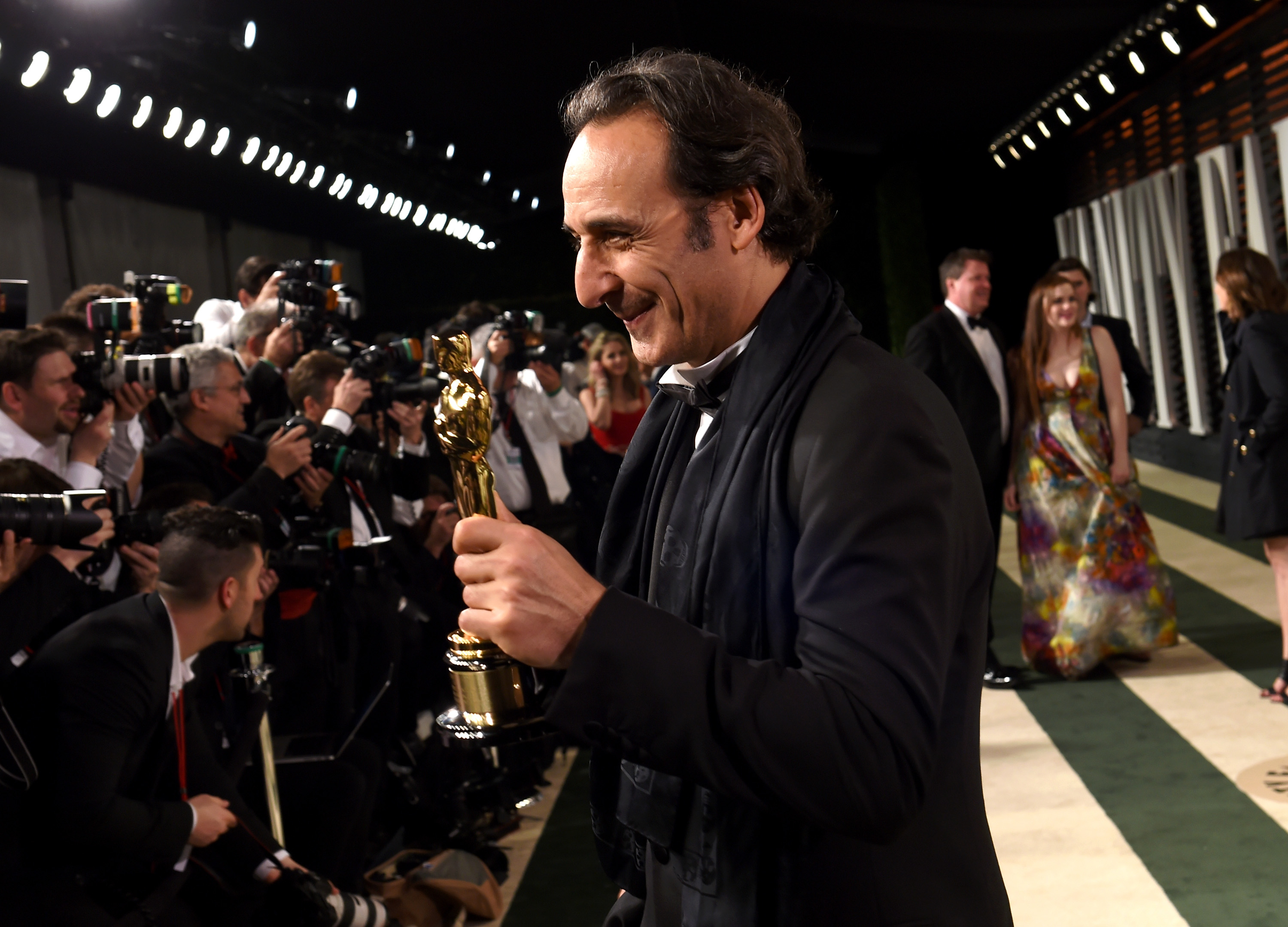 BEVERLY HILLS, CA - FEBRUARY 22:  Composer Alexandre Desplat attends the 2015 Vanity Fair Oscar Party hosted by Graydon Carte