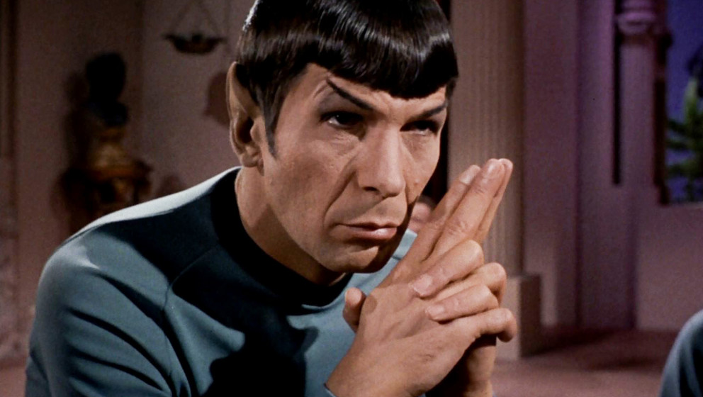 Image #: 20139839    Leonard Nimoy as Mr. Spock in the 'Star Trek' episode 'Plato's Stepchildren,' which originally aired Nov