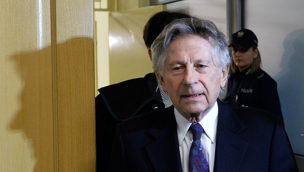 French-Polish film director Roman Polanski is pictured as he arrives for a hearing at the regional court in Krakow on Februar